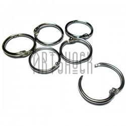 Набор колец металлических для переплета (скрапбукинга), разъёмных, ∅30 мм., 6 штук, REGINA