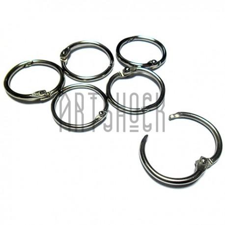 Набор колец металлических для переплета (скрапбукинга), разъёмных, ∅29 мм., 6 штук
