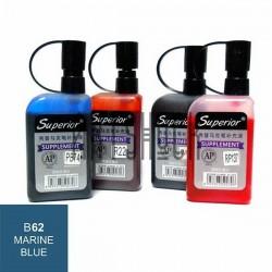 Заправка (чернила спиртовые) для маркера, 62 marine blue, Superior