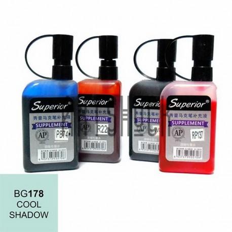 Заправка (чернила спиртовые) для маркера, 178 cool shadow, Superior