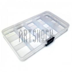 Бокс пластиковый для мелочей на 15 ячеек, регулируемые ячейки, 17.5 x 10 x 2.2 см.