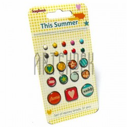 Набор брадсов для скрапбукинга This Summer - Это лето, 21 штука, ScrapBerry`s