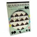 Уголки для альбомов и фотографий в скрапбукинге и кардмейкинге Photo Corners, цветы на коричневом фоне, 24 штуки