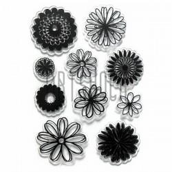 """Штампы для скрапбукинга (силиконовые штампы), набор """"Цветы"""", 11 х 15 см."""