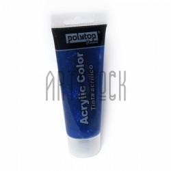 Гель с блестками (жидкий глиттер), синий, 75 мл., Polytop