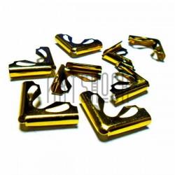 """Набор уголков для альбомов, блокнотов, открыток """"золото"""", 22 x 22 x 5 мм., 8 штук, REGINA"""