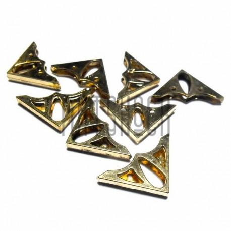 """Набор металлических уголков для блокнотов (альбомов) """"красное золото"""" - 22 х 22 х 3 мм., 8 штук"""
