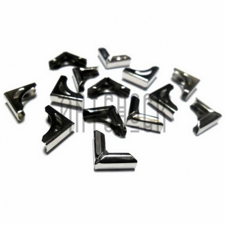 """Набор металлических уголков для блокнотов (альбомов) """"античная латунь"""" - 10 х 10 х 4 мм., 14 штук"""