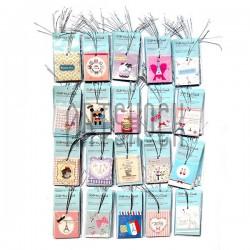 """Набор открыток """"MINI CARD"""" для посткроссинга, украшения букетов и цветов, 55 х 64 мм., 200 открыток"""