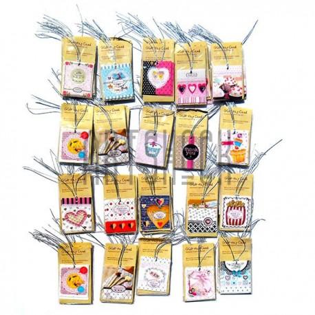 """Набор открыток """"Especially For You"""" для посткроссинга, украшения букетов и цветов, 55 х 64 мм., 200 открыток"""
