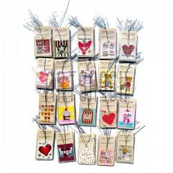"""Набор открыток """"LOVE"""" для посткроссинга, украшения букетов и цветов, 55 х 64 мм., 200 открыток"""