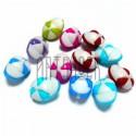 """Набор цветных пластиковых декоративных пуговиц """"Кепки"""", 14 x 10 мм., 12 штук, REGINA"""