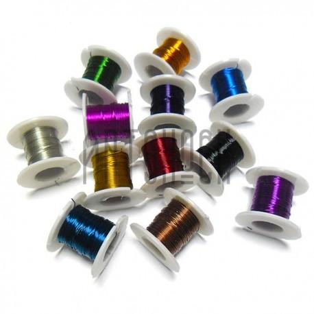 Проволока для бисера и бижутерии, Ø 0.2 мм., 12 штук в наборе