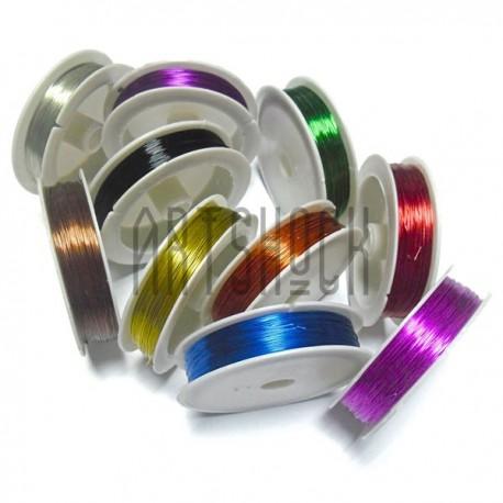 Набор цветной проволоки для бисера и бижутерии (Ø 0.37 мм., 50 м., 10 штук)
