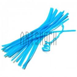 Голубая пушистая проволока шенил (синельная проволока, декоративный ёршик)