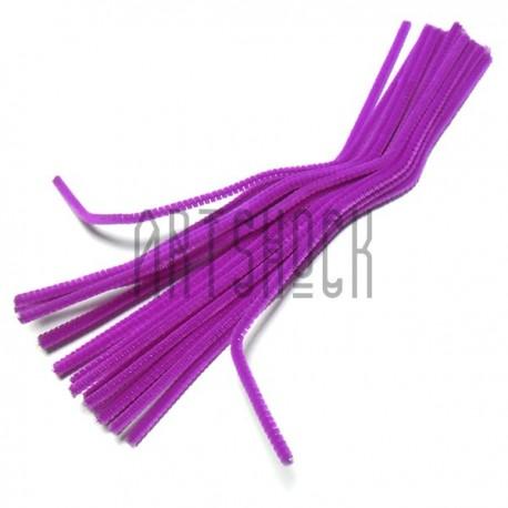 Фиолетовая проволока шенил (синельная проволока, декоративный ёршик)
