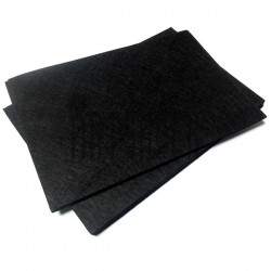 """Фетр для поделок и рукоделия """"Чёрный"""", 1 мм., 20 х 30 см."""