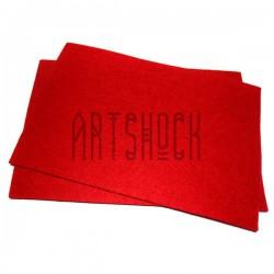 """Фетр для поделок и рукоделия """"Красный"""", 2 мм., 20 х 30 см."""