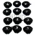 Набор черных накладных носиков для игрушек и кукол, Ø≈1.5 см., 10 штук