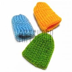 Набор декоративных вязаных шапочек, 3 штуки