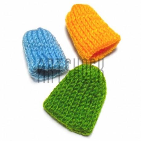 Набор декоративных тканевых шапочек, 3 штуки