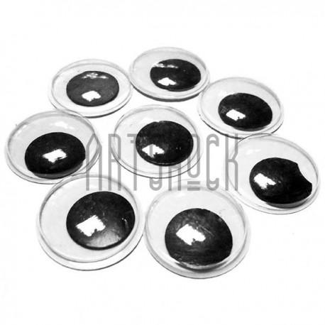 Набор декоративных глазок, круглые, 20 мм., 8 штук