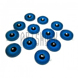 Набор голубых радужек со зрачком для игрушек и кукол, Ø8 мм., 12 штук