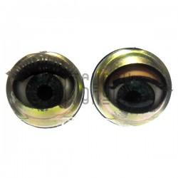 Набор голубых механических (закрывающихся) глазок с ресницами, Ø1.5 см., 2 штуки