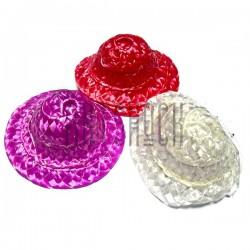 Набор декоративных соломенных шляпок, Ø6 см., 3 штуки