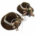 Набор коричневых декоративных фетровых шляпок, Ø6 см., 2 штуки