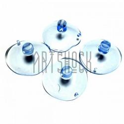Набор универсальных силиконовых вакуумных присосок для игрушек и декора, Ø3.5 см., 4 штуки, REGINA