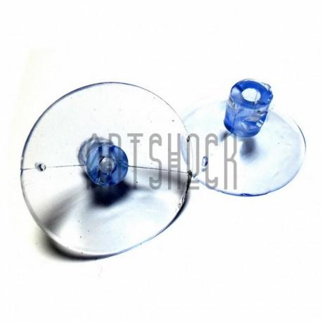 Набор универсальных силиконовых вакуумных присосок для игрушек и декора, Ø4 см., 2 штуки, REGINA