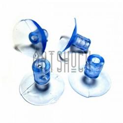 Набор универсальных силиконовых вакуумных присосок для игрушек и декора, Ø3 см., 4 штуки, REGINA