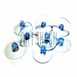 Набор универсальных силиконовых вакуумных присосок для игрушек и декора, Ø2.5 см., 8 штук, REGINA