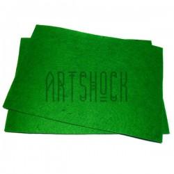 """Фетр для поделок и рукоделия """"Зелёный"""", 2 мм., 20 х 30 см."""