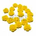 Набор жёлтых декоративных акриловых камей - розочек, Ø7 мм., 20 штук, REGINA