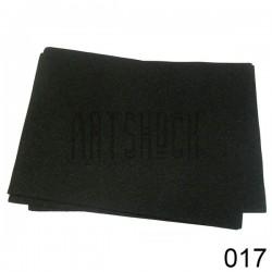 Фоамиран чёрный (пластичная замша), толщина 0.5 мм., 21 х 30 см.