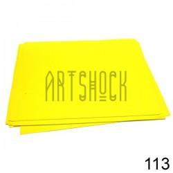 Фоамиран желтый (пластичная замша), толщина 0.5 мм., 21 х 30 см.