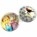 Набор кабошонов - линз стеклянных, круглых с плоским основанием, mix, 30 x 30 мм., 2 штуки, REGINA