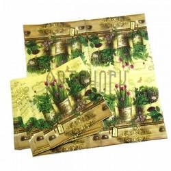 """Салфетка для декупажа """"Три вазона с цветами"""", 33 x 33 см., 20 штук, REGINA"""