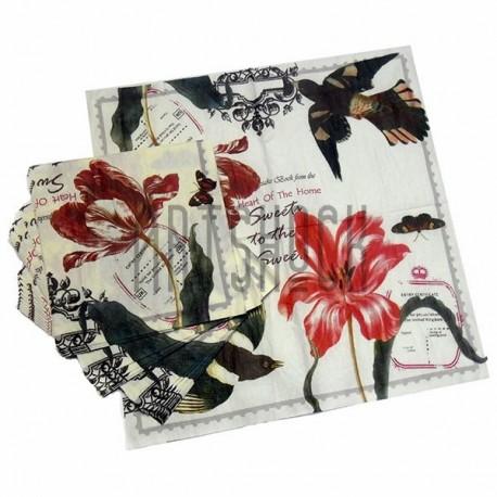 """Салфетка для декупажа """"Букет из цветов"""", 33 x 33 см., 20 штук, REGINA"""