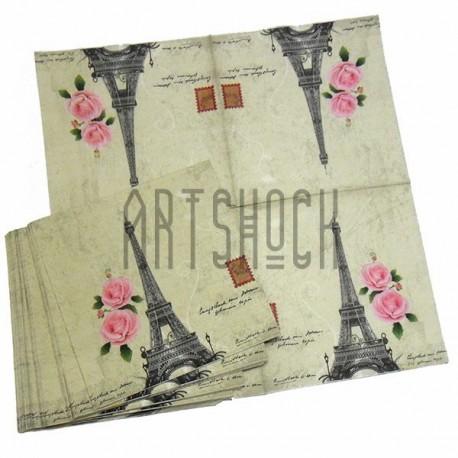 """Салфетка для декупажа """"Букеты из цветов"""", 33 x 33 см., 20 штук, REGINA"""