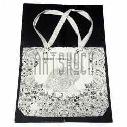 Эко - сумка хлопковая, раскраска - антистресс, Secret Garden - Заяц