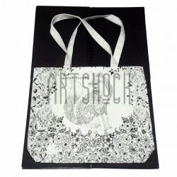 Эко - сумка хлопковая, раскраска - антистресс, 38.8 x 32 x 8 см., Secret Garden - Заяц