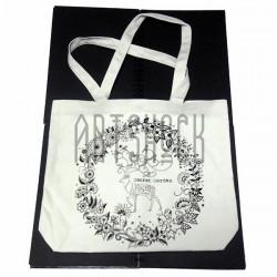 Эко - сумка хлопковая, раскраска - антистресс, 38.8 x 32 x 8 см., Secret Garden - Лиса