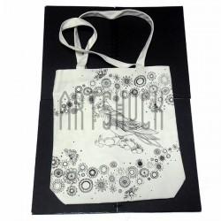 Эко - сумка хлопковая, раскраска - антистресс, 38.8 x 32 x 8 см., Secret Garden - Олень