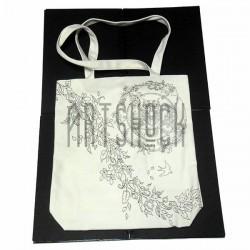 Эко - сумка хлопковая, раскраска - антистресс, 32.5 x 36 x 8 см., Secret Garden - Сова