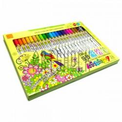 Набор фломастеров Fabric Marker для росписи по ткани и керамике, 12 цветов, Soundy Concept