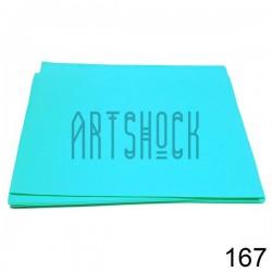 Фоамиран голубой (пластичная замша), толщина 0.5 мм., 21 х 30 см.