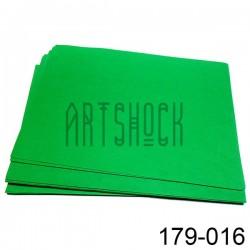 Фоамиран зеленый (пластичная замша), толщина 0.5 мм., 21 х 30 см.